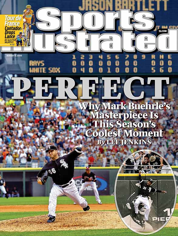 On July 23, Buehrle retired all 27 Tampa Bay Rays batters he faced for the 18th perfect game in major league history. Buehrle struck out six en route to his second career no-hitter, which was preserved when Dewayne Wise, inserted as a defensive replacement in the top of the ninth, made an over-the-wall catch to rob Tampa Bay's Gabe Kapler for the second out in the ninth.