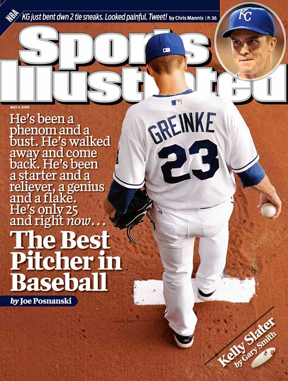 In 2006, Greinke, then a 23-year-old tabbed as the future of the Royals, left the team in spring training with what was later diagnosed as social anxiety disorder. He returned to the majors that September and was an effective pitcher in 2007 and 2008 but no one foresaw 2009. Greinke started the year 8-1 with a 0.84 ERA in his first 10 starts and cruised to the AL Cy Young award, finishing 16-8 with an AL-best 2.16 ERA and 1.073 WHIP.