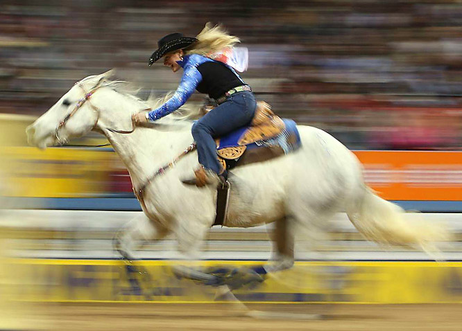 Tammy Fischer from Ledbetter, Texas, came in 13th in barrel racing.