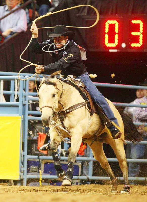 Trevor Brazile of Decatur, Texas, won tie-down roping and the All-Around world championship title in Las Vegas.