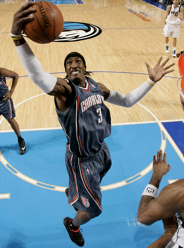 The 6-foot-7 Bobcats small forward ranks third in the league with 12.0 rebounds, more than double his career average. He's the only non-center or power forward in the top 25. It helps, of course, that Wallace is getting plenty of opportunities: He leads the NBA in minutes and plays for a Charlotte team that creates a lot of offensive-rebounding chances with its poor shooting.