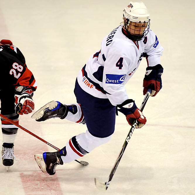 At 30, the defenseman is the senior citizen of the women's hockey team. She has won an Olympic medal of every color, has amassed nine world championships medals and has played in more games than anyone in the team's history. The Harvard grad also played a game on a pro men's team, the Tulsa Oilers of the Central Hockey League, and appeared as a contestant on Donald Trump's The Apprentice.
