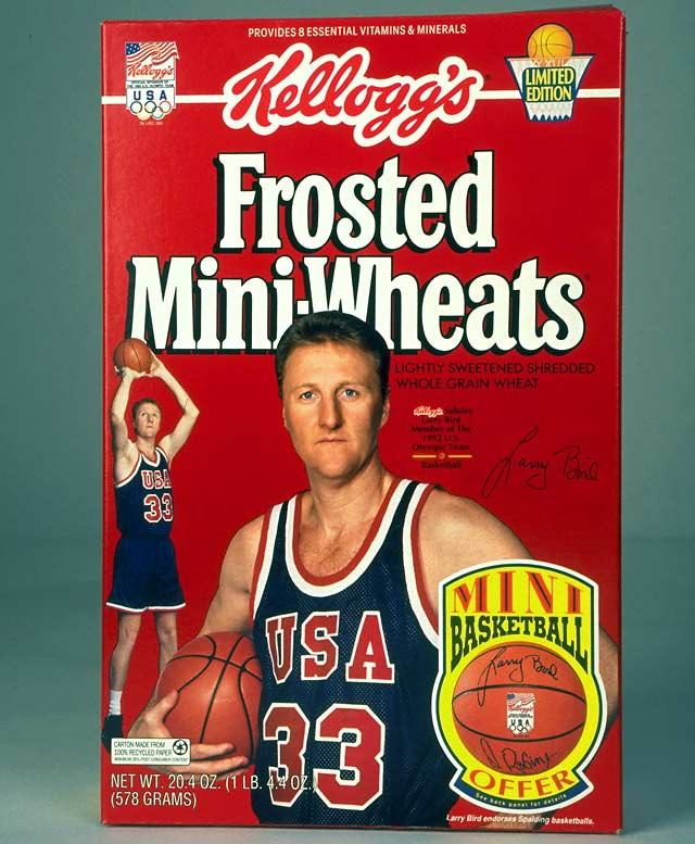 Bird was featured on the cover of Frosted Mini-Wheats during the 1992 Olympics.