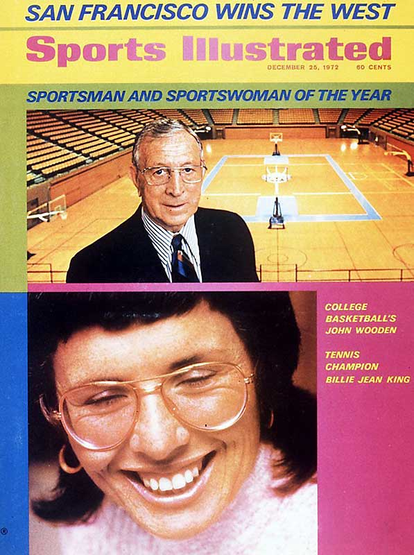 <p>John Wooden and Billie Jean King</p>