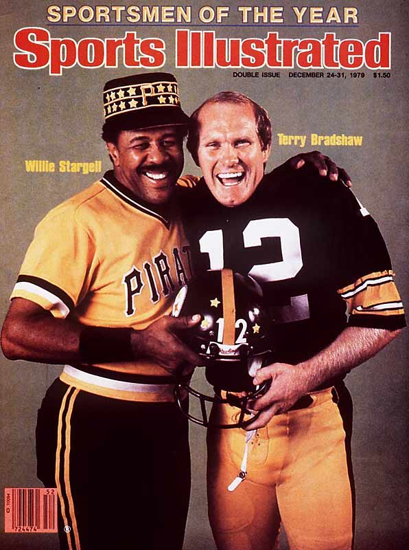 <p>Willie Stargell and Terry Bradshaw</p>