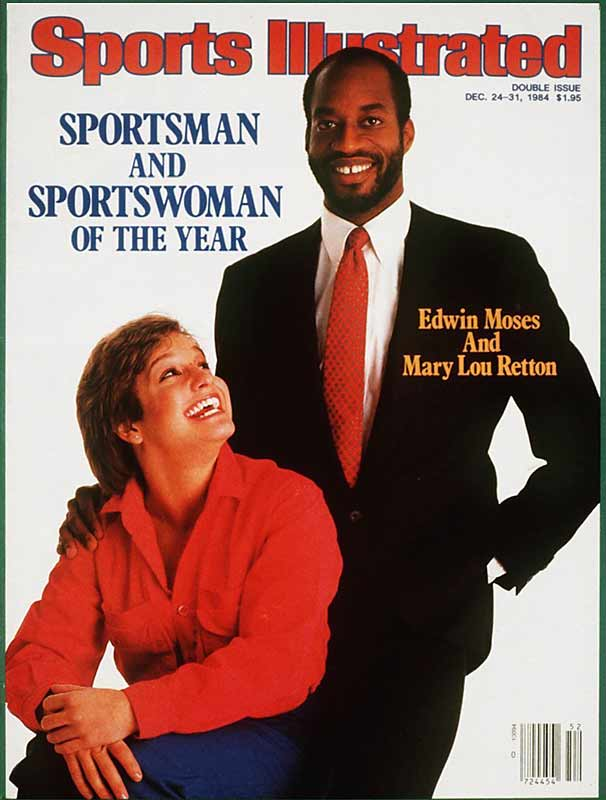 <p>Mary Lou Retton and Edwin Moses</p>