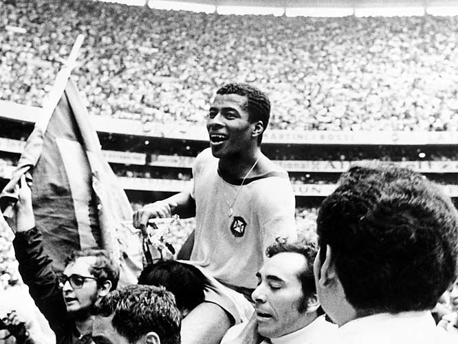 Brazil and England were again members of a Group of Death in Mexico's 1970 affair, as they were saddled together with Romania and Czechoslovakia in Group 3. In Brazil and England, Group 3 possessed the winners of the past three World Cups, making advancement an onerous task for the Eastern European squads -- and indeed, the favorites progressed as expected. Despite the difficult table, Brazil went undefeated during group play, propelling them once more to the title in what is generally considered the great Pelé's  pièce de résistance .