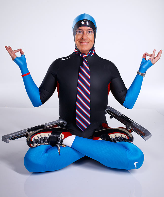 "Stephen Colbert, host of ""The Colbert Report,"" has announced his show will sponsor the U.S. Speedskating team for the 2010 Winter Olympics. He explains why in the cover story of the December 21st Year in Sports Media issue of SI. And because you can never, ever get enough Colbert, here are some outtakes of his cover shoot for the magazine."