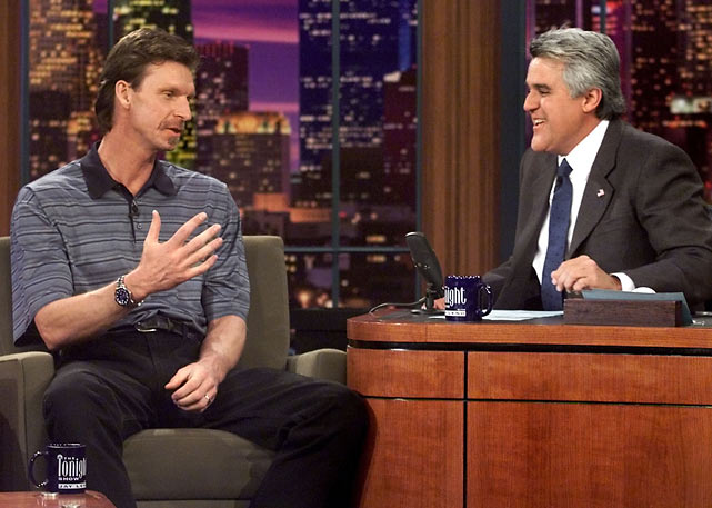 Randy Johnson talks to Leno about the Diamondbacks upset of the Yankees in the World Series.