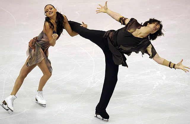 The top-ranked ice dancers in the world have one very big Achilles' heel -- or knee, rather. Shabalin has had multiple meniscus surgeries on both knees over the years, including three between May 2007 and March '08. Recurring knee issues forced the couple to skip the 2008 world championships (although they returned to win the title the following year), to withdraw from last year's European Championships and to miss the entire Grand Prix series this season. The duo, who have faced outcry from indigenous groups over their aboriginal-themed dance this season, claimed their third Russian and second European titles with the program last month.