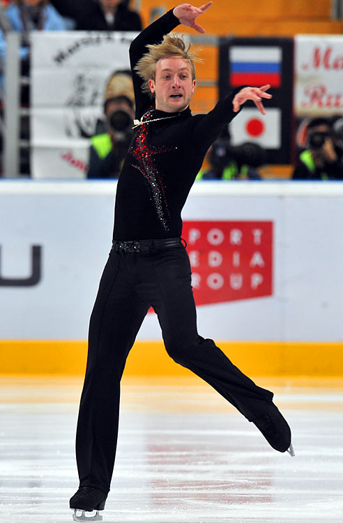 If the reigning Olympic champion's un-retirement announcement last spring didn't strike fear into the hearts of elite male skaters, his actual comeback performances should have: The 27-year-old spanked the field (by 25.52 points) at the Grand Prix's Rostelecom Cup in Moscow in October; set a world best record for total score (271.59) in reclaiming the Russian national title -- his eighth -- in December; and then handily won the European Championships in January.