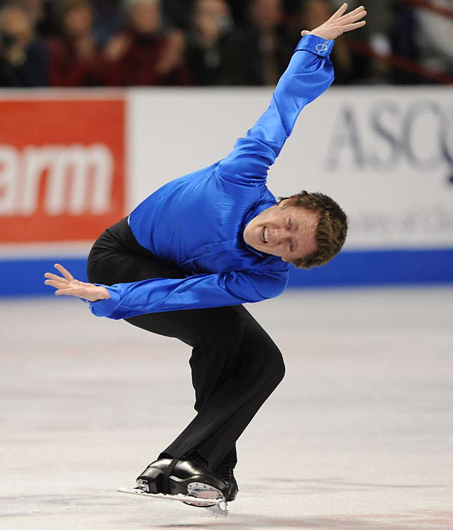 With back-to-back national titles, the 24-year-old leads a deep American men's team to Vancouver but is also its least experienced member: He finished in 11th place in both his trips to worlds, and his best showing at a major international event was third at the Four Continents Championships in 2007. Hoping to improve his performance on the big stage, he hired 1994 women's world champion Yuka Sato as his coach last May.