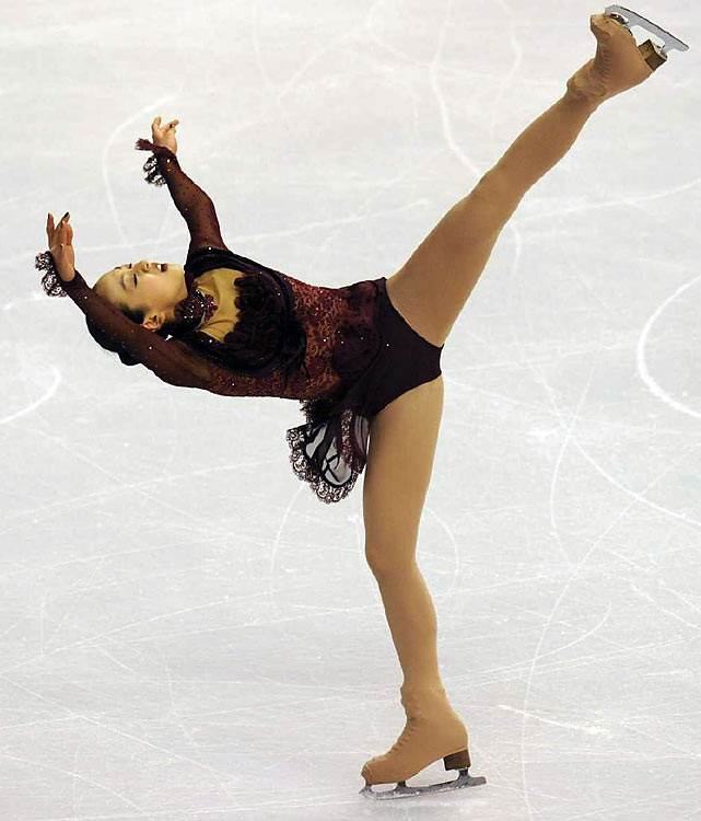 Four years ago, Asada was widely considered the best female figure skater in the world but too young to compete in the Olympics. Now 19, the former prodigy--she was the first woman to land a triple-triple-triple combination in competition, at the age of 12--has been biding her time well: In the past four years, she has collected four straight Japanese national titles, two Four Continents Championships (including one last weekend) and a world title and has never finished below second place at the Grand Prix Final.