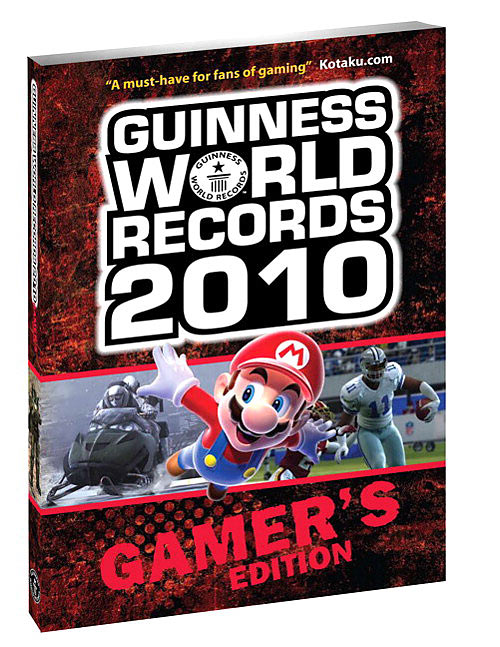 The fine folks at Guinness have teamed up with our uber nerd friends at Twin Galaxies to publish the second edition of the Gamer's record book. The book is loaded with interesting record categories and a nice array of historical information that cover nearly every gaming genre and gaming system. At the back of the book is a listing of the high score leaderboard records for the games' Galaxies tracks. We're still waiting for Steve Wiebe to take down the Donkey Kong record...<br>Rating 9/10