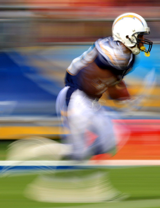 Darren Sproles of the San Diego Chargers returns a kickoff against the Washington Redskins during their Jan. 3 game at Qualcomm Stadium in San Diego. The Chargers won 23-20.
