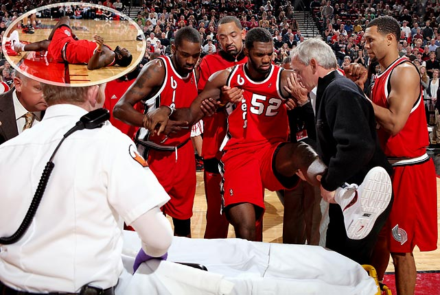 The No. 1 pick in the 2007 draft broke his left kneecap on Dec. 5, an injury that is expected to end his season. After missing his would-be rookie season because of knee surgery and struggling through an injury-plagued 2008-09, Oden had gotten off to a strong start in 2009-2010. His absence, combined with a knee injury to backup center Joel Przybilla, has left Portland in need of frontcourt help.