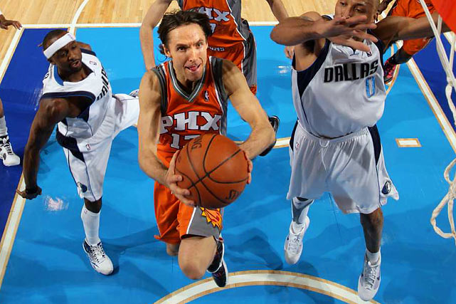 A few weeks shy of his 36th birthday, Nash is playing better than ever, or at least as well as when he won the 2005 and '06 MVP awards. He is averaging 19 points and 11 assists while shooting 54 percent from the field, 42 percent from three-point range and 95 percent from the free-throw line. As a result, the Suns are pushing for first-round home-court advantage, though they have cooled off since a 15-5 start.