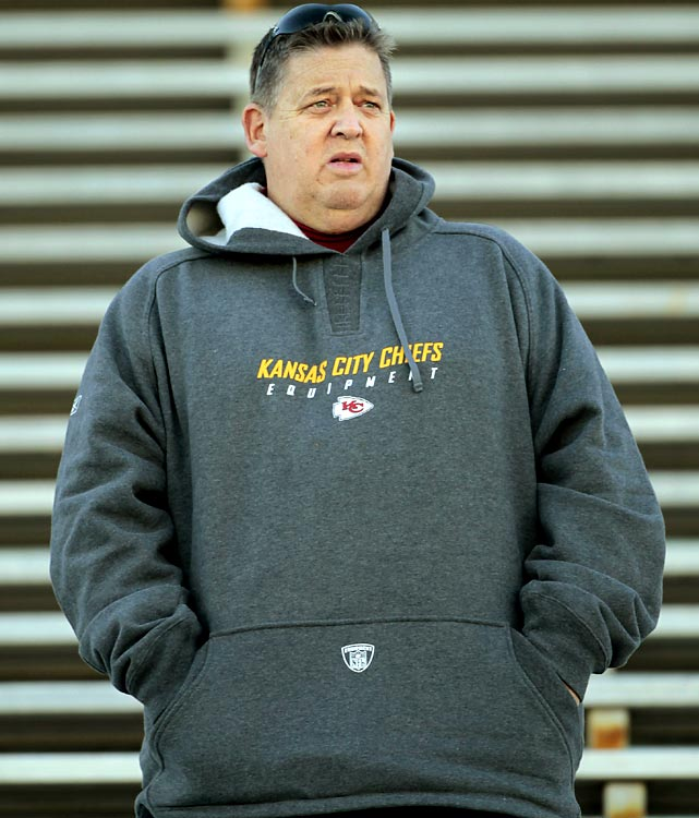 New Kansas City Chiefs offensive coordinator Charlie Weis was also in Mobile. The Chiefs have the No. 5 overall pick in April's draft.