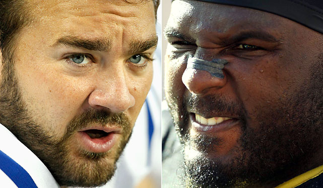 The football world has become quite familiar with Saturday, one of the most decorated and recognizable O-linemen in the game. Ellis is a versatile and powerful defensive tackle who can plug two gaps in the middle of the line in a 3-4 set, or penetrate and pressure the quarterback out of the 4-3. He is an extremely under-rated key to Gregg Williams' defensive success, allowing Jonathan Vilma to have a great season and limiting ground games against the Saints.