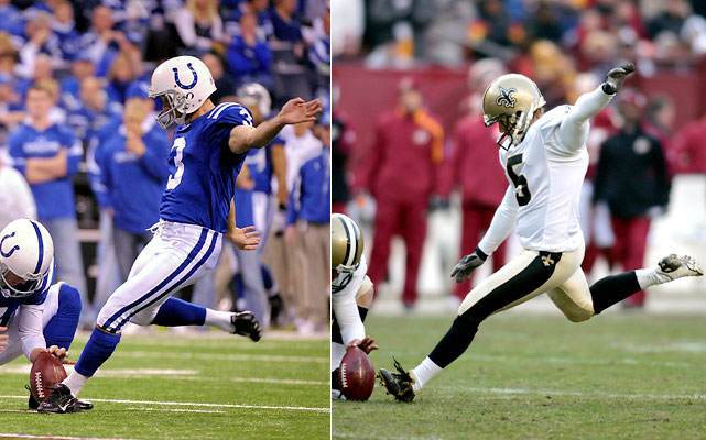 This should be a mismatch along the lines of Mavericks-Knicks or Reagan-Mondale. Stover is 42 and has seen it all and done it all. He is Mr. Unflappable. Not long ago, Hartley -- a comparative NFL toddler -- was unemployed. But Hartley is tough, strong and was groomed to take big kicks at high school powerhouse Southlake Carroll (Texas) and the University of Oklahoma. He made the kick of his life against the Vikings. If the Super Bowl comes down to a kick, Hartley won't be as nervous or intimidated as you might think.