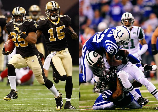 His horrible drop of a punt against the Vikings notwithstanding, Bush is a huge asset in the punt-return game. He breaks games wide open. In the same NFC title game, the football world was introduced to just how big a factor Courtney Roby can be as a kick returner, with his 41-yard return of the second-half kickoff getting the Saints going. The Colts are efficient in coverage, but not great. And this is an entirely different breed of return men they will be facing.<br><br>Send comments to siwriters@simail.com