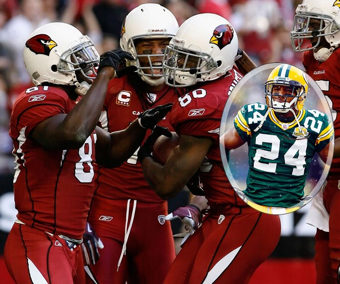 The Cardinals are going to try everything they can to exploit the weakest link in the Packers' secondary. That's Bush, whose penchant for either giving up big plays or making them has to have Packer fans worried. Even if Charles Woodson handles Larry Fitzgerald most of the day, Bush ultimately will have to face Boldin, who is expected to play, or Breaston. Kurt Warner will continually try to attack Bush.
