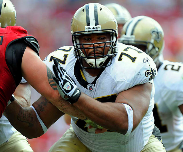 New Orleans' right guard Jahri Evans made the Pro Bowl, but the Saints love to run behind the bruising Nicks. While everyone thinks of the Saints as a pass-first team, they've had a lot of success this season when they establish their rushing attack. Like most offensive lineman, Nicks sometimes needs help in pass protection, but he can be a real force on run plays.