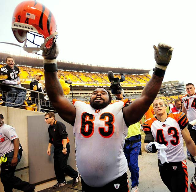 He is tough, talented, durable, great in the locker room and had the best season of his career. Talk about Pro Bowl snubs -- none were bigger than the 345-pound Williams. So why would the Bengals let him go? They wouldn't. Neither would Williams want to play elsewhere. But 10 years into his career and 33 years old and with interior linemen the strength of this free-agent class, the right money and terms might be too good to pass.