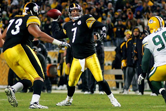 No player in league history had thrown for over 500 yards and capped it with a game-winning touchdown throw in the fourth quarter of the same game until Big Ben did so against Green Bay in Week 15. Roethlisberger finished with 503 yards.