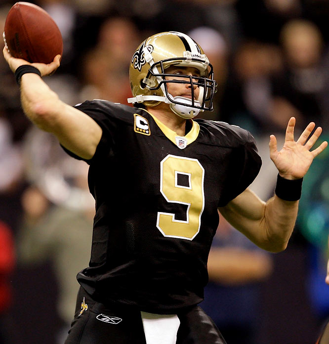 No quarterback in league history has finished a season with a higher completion percentage than Drew Brees, who connected on 363 of his 514 attempts for 70.6 percent. Brees broke the record set in 1982 by Cincinnati's Ken Anderson (70.55).