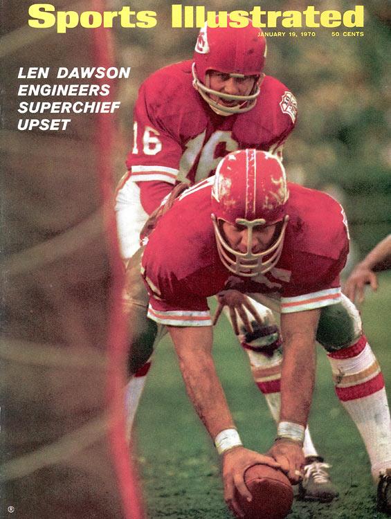 Len Dawson is named MVP as Kansas City beats Minnesota, 23-7, in Super Bowl IV.
