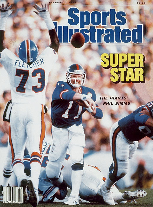 The New York Giants beat the Denver Broncos, 39-20, in Super Bowl XXI. Phil Simms is named MVP.