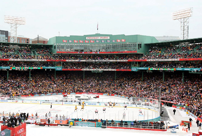 Nearly 40,000 fans spent New Year's Day with the Bruins and Flyers.  On a flawless New Year's Day, the Bruins provided their own unique finish to Fenway Park's history of memorable endings. Marco Sturm capped a furious comeback with an overtime goal and goalie Tim Thomas saved his best for the end as Boston beat the Philadelphia Flyers 2-1 in the 3rd annual Winter Classic, the first NHL game at the home of the Boston Red Sox.