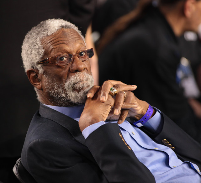 NBA legend and 12-time All-Star Bill Russell was among the thousands at Cowboys Stadium.