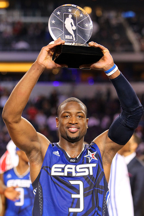 The six-time All-Star added the game's shiny MVP trophy to his already-massive collection of hardware.
