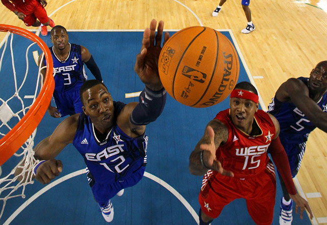 The Magic center started for the East and contributed 17 points, five boards and three blocks -- including that one.