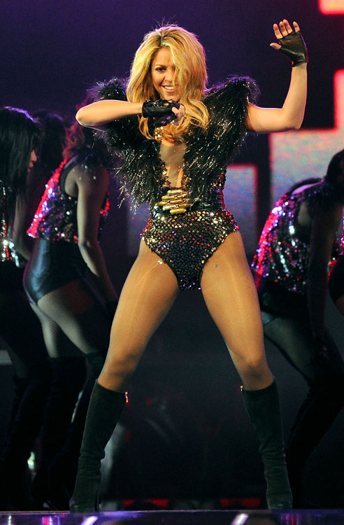 """The Latin songstress stole the show at halftime with her latest hit """"She Wolf."""""""