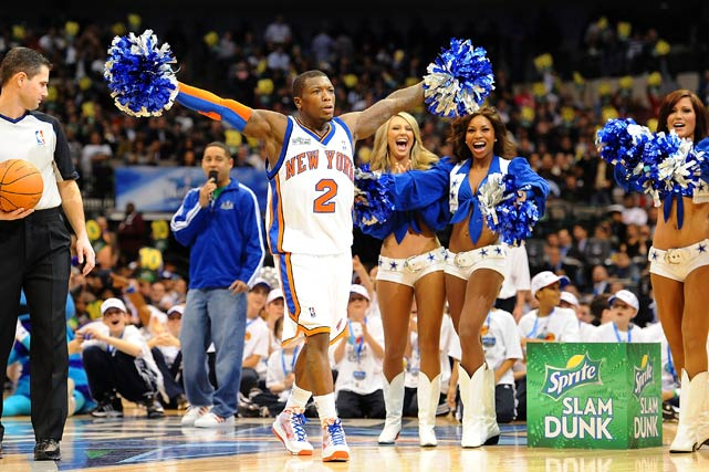 Of course, being the showman that he is, Robinson had to celebrate his final dunk with the hometown Dallas Cowboys cheerleaders.
