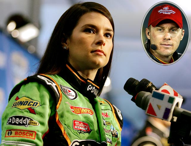 """We've never had a female -- in my era --  that's been competitive. I think most of them have just been here because they're female. I think Danica's the first real female racecar driver that's coming in here. I'm not saying she's going to be competitive overnight but she's the first one who's got any sort of credentials that should be racing cars."""