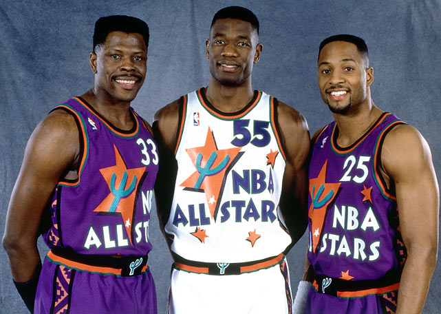 Ewing, Mutombo and Mourning had a Georgetown reunion at 1995 All-Star weekend  in Phoenix.