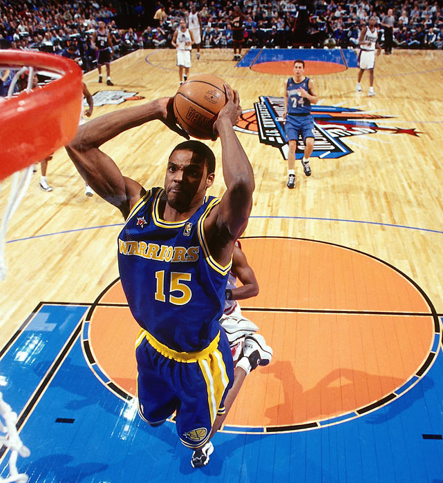 Sprewell dunks during the 1997 All-Star Game. He finished with 19 points but the West lost 132-120.