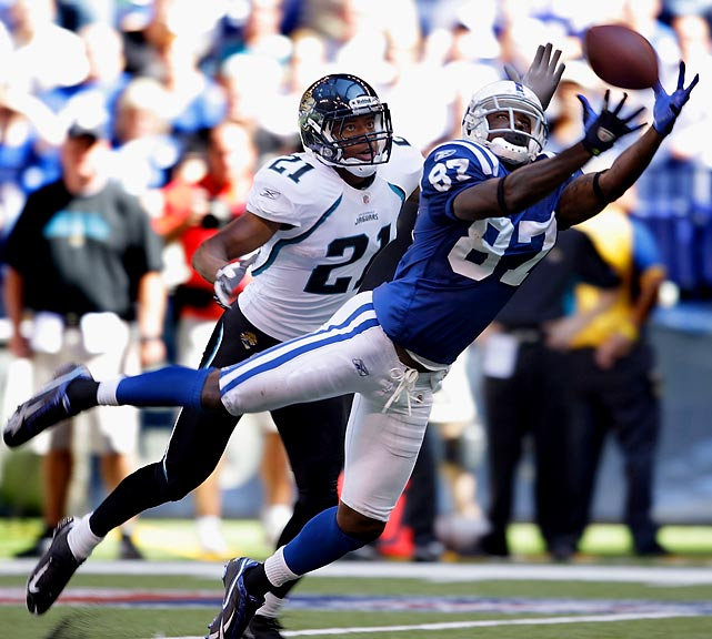 Colts wide receiver Reggie Wayne caught 10 passes for 162 yards, including the game-deciding 35-yard touchdown catch in the third quarter, as the Colts got their season off on the right foot with a 14-12 victory over the Jaguars.