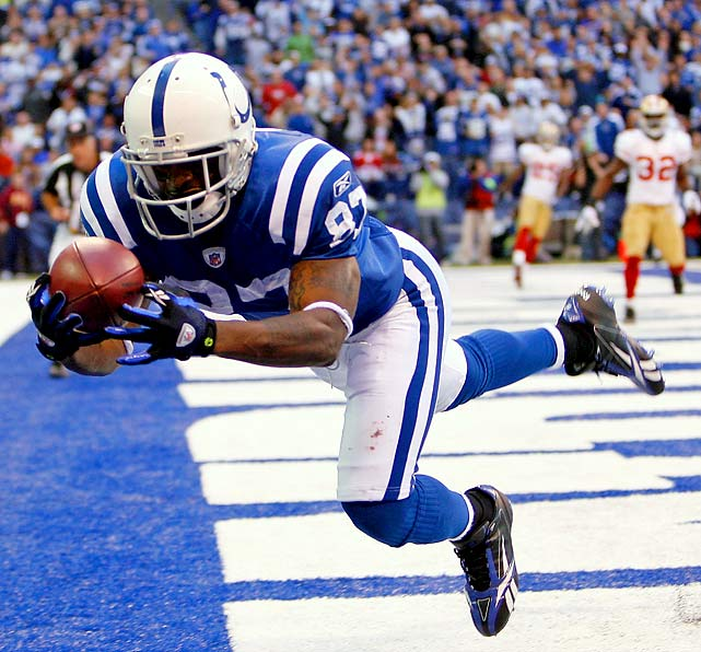 Reggie Wayne had 147 yards on 12 receptions, including a 22-yard touchdown in the fourth quarter that put Indianapolis ahead for good. The 18-14 win over a pesky  49ers squad extened Indy's record to 7-0.