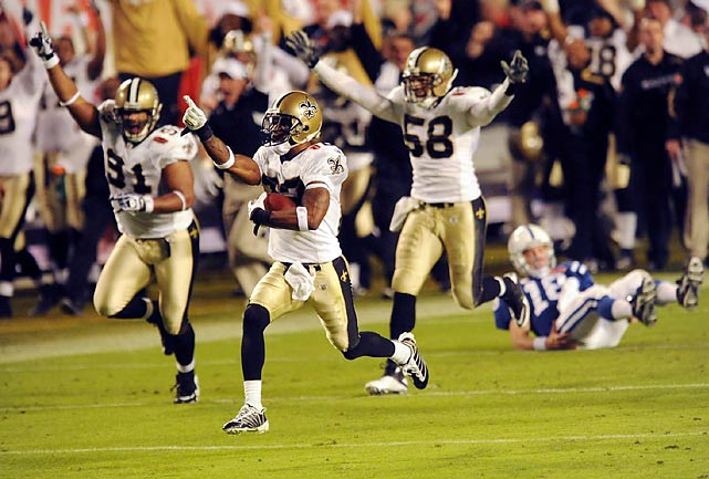 The New Orleans Saints brought a memorable close to the NFL's 90th season with Tracy Porter intercepting Peyton Manning in the fourth quarter and returning it for the final touchdown in the Saints' 31-17 win in the Super Bowl. Here are some other memorable moments of another thrilling season.