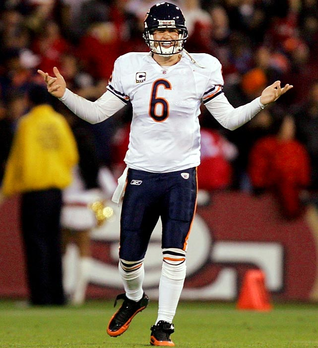 For a guy who the Chicago Bears thought could lead them to a Super Bowl, Jay Cutler didn't have even get the Bears to the playoffs in 2009. His career-high 26 interceptions were the most in the league and included a four-interception outing in the season opener vs. Green Bay and a five-pick game in Week 10 against San Francisco.