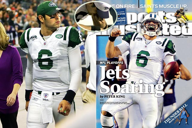 """After Mark Sanchez caused a buzz by eating a hot dog on the bench during a game at Oakland, coach Rex Ryan said, """"Hey, that's not the biggest mistake he's ever going to make."""" He was right. Weeks later Sanchez ignored sliding lessons he received from Yankees skipper Joe Girardi and dove head first on a run against Buffalo, injuring his knee in the process. By the end of that night, Ryan was saying, """"[Girardi] is probably calling him a knucklehead or something like that. -- He's our knucklehead and we love him."""" The Sanchize helped the Jets reach the AFC Championship game for the first time since 1999."""