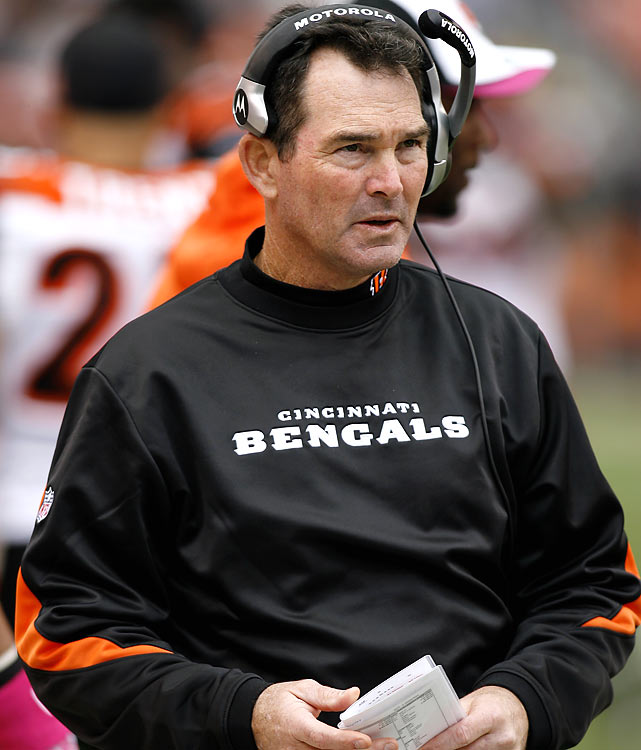 Three days after his wife died of unknown causes, Cincinnati defensive coordinator Mike Zimmer made the tough decision to coach that weekend against the Baltimore Ravens. The inspired Bengals won the battle for first place in the AFC North, 17-14, and gave Zimmer a game ball in an emotional locker room afterwards. The playoff-bound Bengals ended up being one of the biggest surprises of the season.