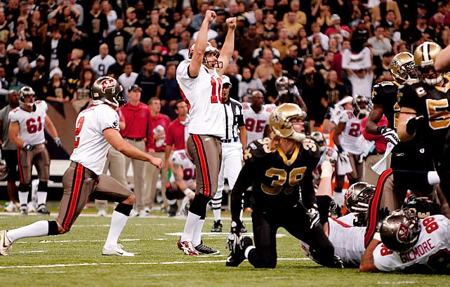 New Orleans wanted to get back on the winning track against Tampa Bay, but Connor Barth's 47-yard field goal in overtime gave Tampa Bay a 20-17 victory in one of the season's biggest upsets. Pierre Thomas rushed for 60 yards and a touchdown on six carries.