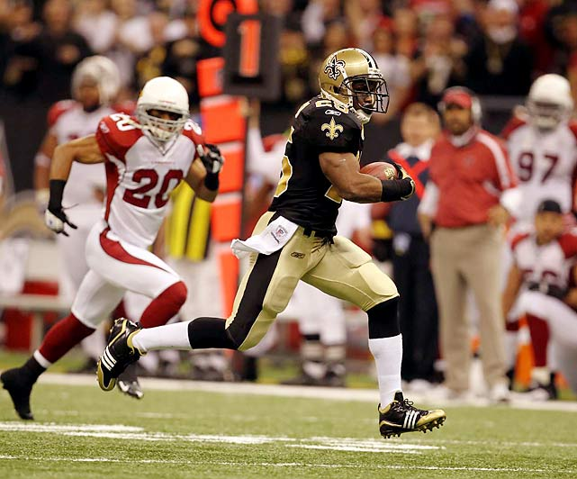 After three straight losses to close the season, the Saints were accused of peaking too early and tailing off at the worst point of the season. Reggie Bush felt differently, amassing 108 yards from scrimmage on only nine touches, and another 109 on three punt returns. He also scored twice as New Orleans powered past defending NFC champion Arizona 45-14.