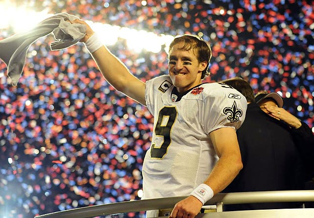Peyton Manning may have won the regular season MVP award, but Drew Brees outplayed him in the Super Bowl and won an MVP of his own.